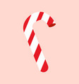 simple cartoon candy cane pink background vector image