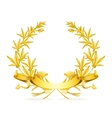Gold wreath vector image