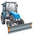 blue snow fighter tractor vector image vector image