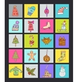 Christmas Icons with Background vector image