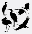Stork heron egret and crane silhouette vector image
