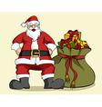 Christmas series Santa Claus and gifts bag vector image vector image