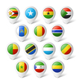 Map pointers with flags Africa vector image vector image