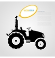 isolated tractor icons silhouettes vector image vector image