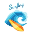Bright surfing or print for t-shirts vector image vector image