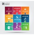 puzzle infographic vector image