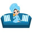 woman on a sofa vector image