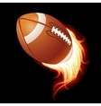 Flying flaming american football ball vector image