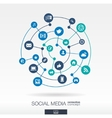 Social media connection concept Abstract vector image