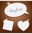 paper stickers with tape vector image vector image
