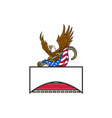 American Eagle Clutching Towing J Hook Flag Retro vector image
