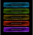 Abstract colorful glowing options vector image