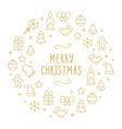 background with different christmas and new vector image