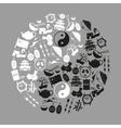 China theme black icons set symbols eps10 vector image