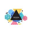 design logo template minimalist design element vector image