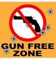 gun free zone vector image