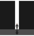 Man looking at light vector image