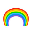rainbow isolated natural colored arc on white vector image