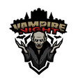 vampire night emblem vector image