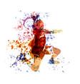 watercolor of a handball player vector image