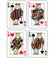 four kings french inspiration vector image vector image