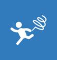 rhythmic gymnastics with ribbon design vector image vector image