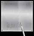 metal page with image of music vector image vector image