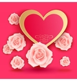 Valentines day card with roses vector image vector image