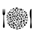 icon plate vector image vector image