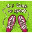 Sport Gumshoes Poster vector image