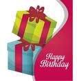 happy birthday gift isolated icon design vector image