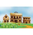 Houses in the neighborhood vector image