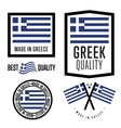 Made in Greece label set vector image