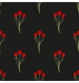 Seamless background wild grass vector image