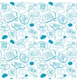 doodle seamless pattern with speech bubbles vector image vector image
