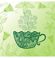 Green tea pattern background vector image