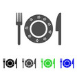 restaurant tableware flat icon vector image
