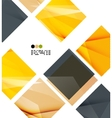 Bright yellow geometric modern design template vector