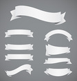Set of White Paper Ribbons vector image