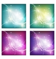 Abstract freshness background with shiny bokeh vector image