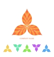 Abstract Leaves in the Triangle Form vector image