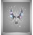 Abstraction grey background with wings vector image