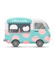 cotton candy street food caravan trailer vector image