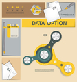 Infographics template elemets vector image