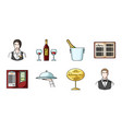 restaurant and bar icons in set collection for vector image