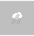 thunderstorm computer symbol vector image