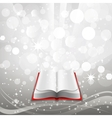 Open book on a gray background vector image vector image