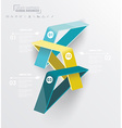 Abstract infographics design with numbered vector image