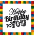 Lego frame icon Happy Birthday design vector image