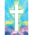 colorful abstract Cross vector image